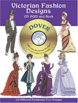 Victorian Fashion Designs Cd-Rom And Book (Dover Full-Color Electronic Design)