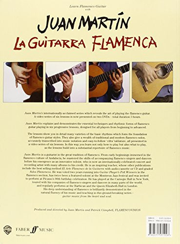 La Guitarra Flamenca: A Video Series Of 6 Lessons With Music Tablature And Notation Presented On Two Dvds, Book & 2 Dvds (Faber Edition)
