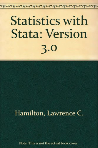 Manual To Accompany Statistics With Stata, Version 3 (Statistics Software)