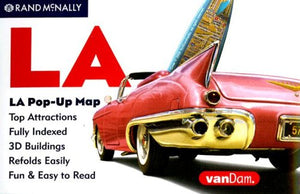 Vandam La, California Pop-Up Map