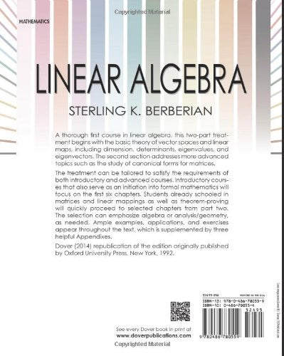 Linear Algebra (Dover Books On Mathematics)