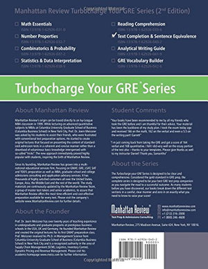 Manhattan Review Gre Sentence Equivalence & Text Completion [2Nd Edition]: Turbocharge Your Prep