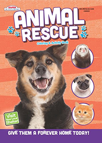 Animal Rescue Coloring & Activity Book - Black Puppy