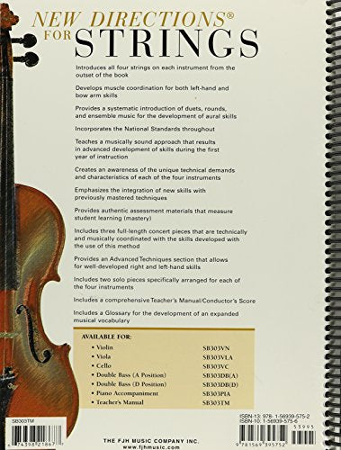 New Directions For Strings Teacher'S Manual Book 1