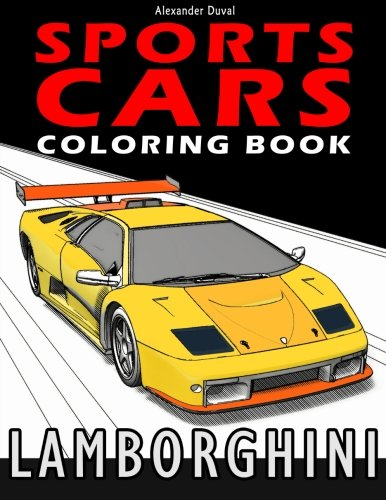 Sports Cars Coloring Book: Lamborghini