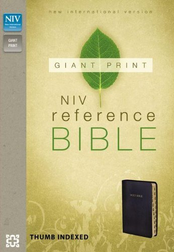 Niv, Reference Bible, Giant Print, Imitation Leather, Black, Indexed