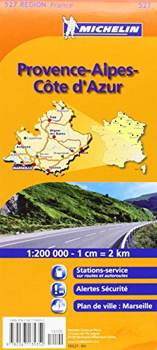 Provence French Riviera 527 Maps/Regional Michelin (English And French Edition)