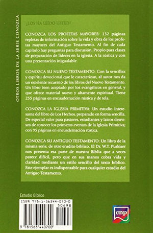 Conozca Los Profetas Menores (Spanish: Meet The Minor Prophets) (Spanish Edition)