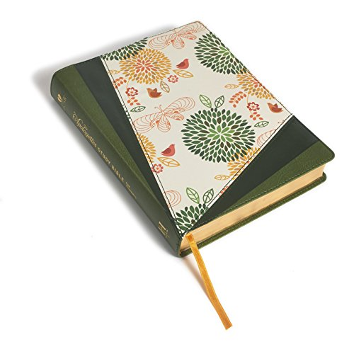 Apologetics Study Bible For Students, Grass Green/Flowers Leathertouch