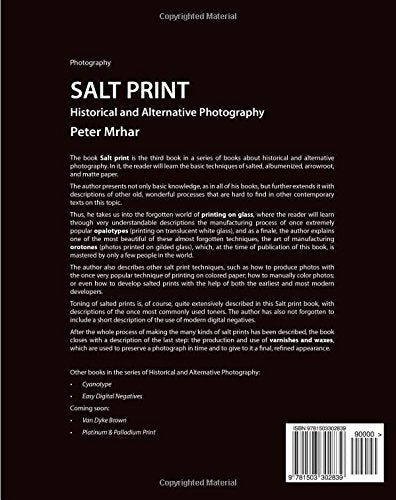 Salt Print With Descriptions Of Orotone, Opalotype, Varnishes...: Historical And Alternative Photography