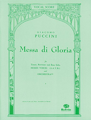 Messa Di Gloria: Satb (Orch. Acc.) (Belwin Edition) (Latin And English Edition)