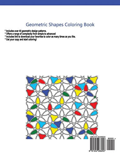 Geometric Shapes Adult Coloring Book: A Coloring Book For Grown-Ups (Coloring Pages For Adults) (Volume 3)