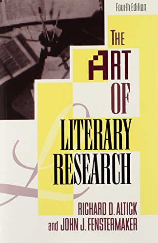 The Art Of Literary Research (Fourth Edition)