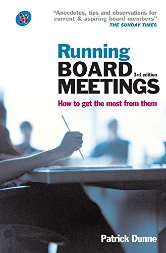Running Board Meetings: How To Get The Most From Them