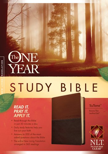 The One Year Study Bible Nlt, Tutone