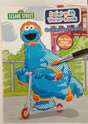 Sesame Street Paint With Water Activity Book - Cookie'S Year