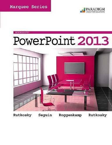 Marquee Series: Microsoft (R) Powerpoint 2013: Text With Data Files Cd