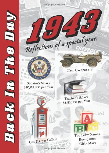 1943 Back In The Day Almanac -- 24-Page Booklet / Greeting Card