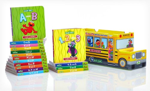 Sesame Street Abcs And 123S With Elmo And Friends 16 Book Bus