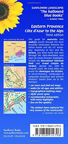 Eastern Provence: Cote D'Azur And Alpes: Car Tours, Walks And Restaurants (Landcapes) (Sunflower Landscapes)
