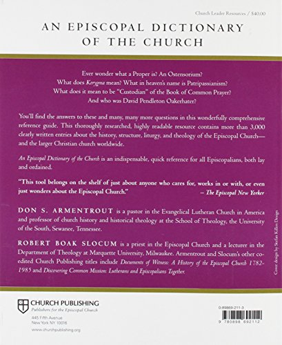 An Episcopal Dictionary Of The Church: A User-Friendly Reference For Episcopalians