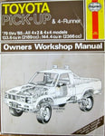 Toyota Pick-Up Owners Workshop Manual, 1979-85