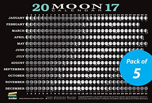 2017 Moon Calendar Card : Lunar Phases, Eclipses, And More!