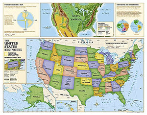 Kids Beginners Usa Education: Grades K-3 [Laminated] (National Geographic Reference Map)