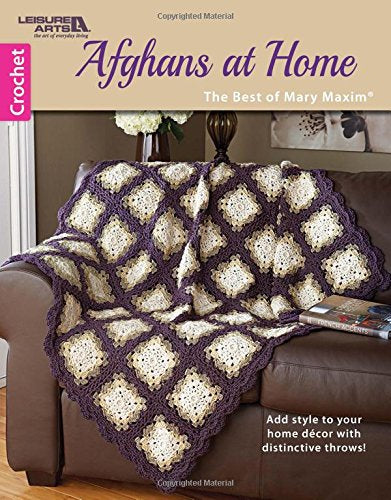 Afghans At Home-The Best Of Mary Maxim | Leisure Arts (6791)