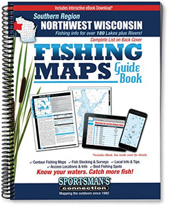 Northwest Wisconsin Fishing Map Guide: Southern Region