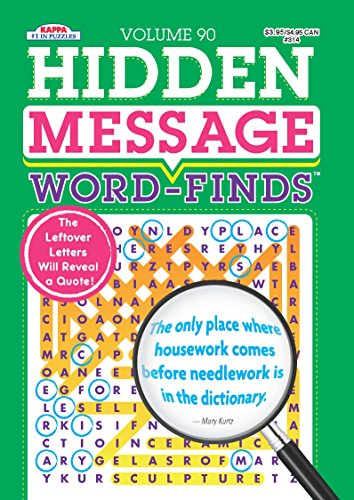 Hidden Message Word-Finds Puzzle Book-Word Search Volume 90