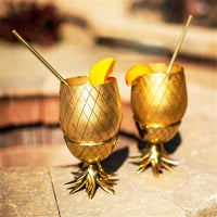 Stainless Steel Pineapple Cup - Multiple Colors and Sizes