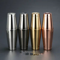 Stainless Steel Cocktail Shaker - Multiple Sizes and Colors