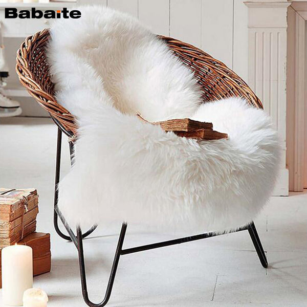 Faux Sheepskin Throw - Free Shipping