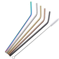 Shaken, Not Stirred. Set of 4 Stainless Steel Drinking Straws - Multiple Color Options