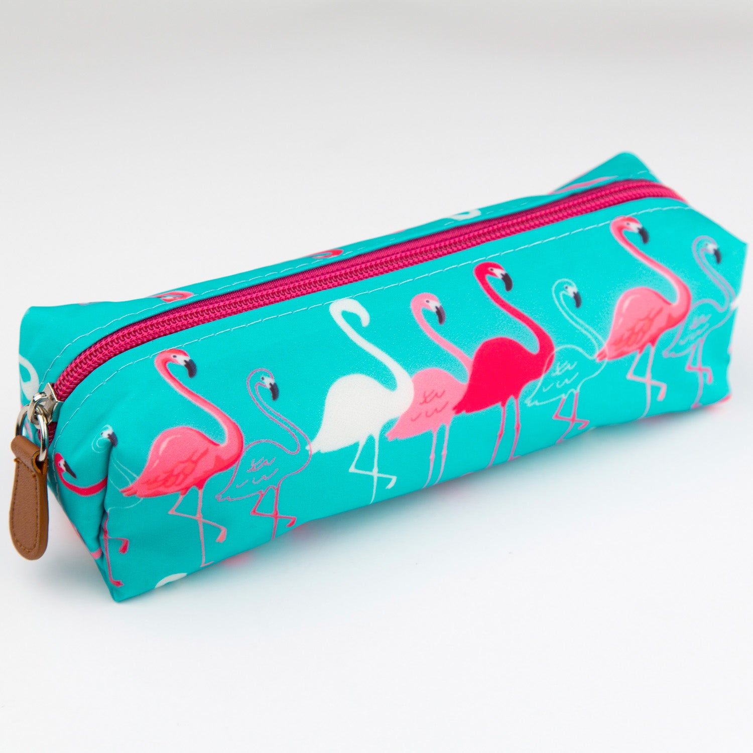 Flamingo Turquoise Pencil Case - MissieMay