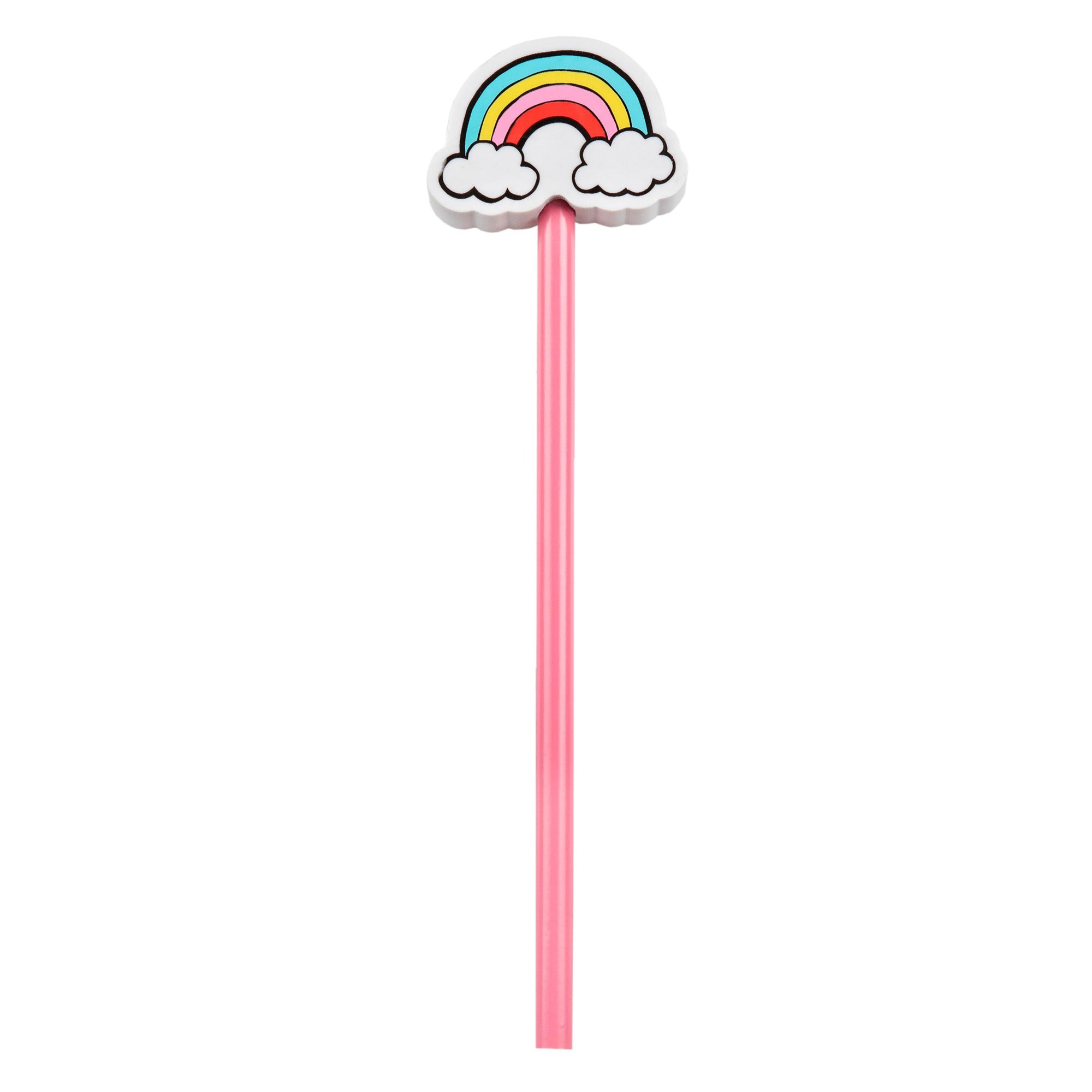 Patches and Pins Pencil with Rainbow Eraser Topper - MissieMay