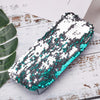 Green / Silver Reversible Sequin Pencil Case - MissieMay