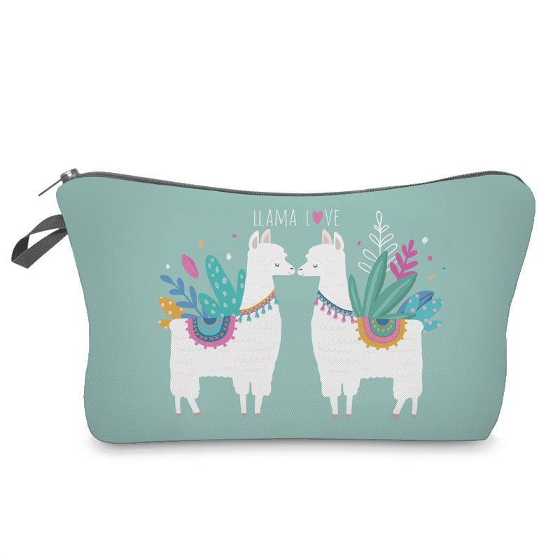 Cute Llama Cosmetic Bag