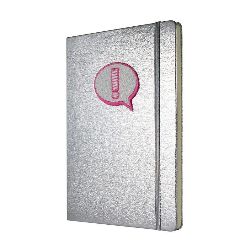 Crushed Foiled Notebook A5 - Silver - MissieMay