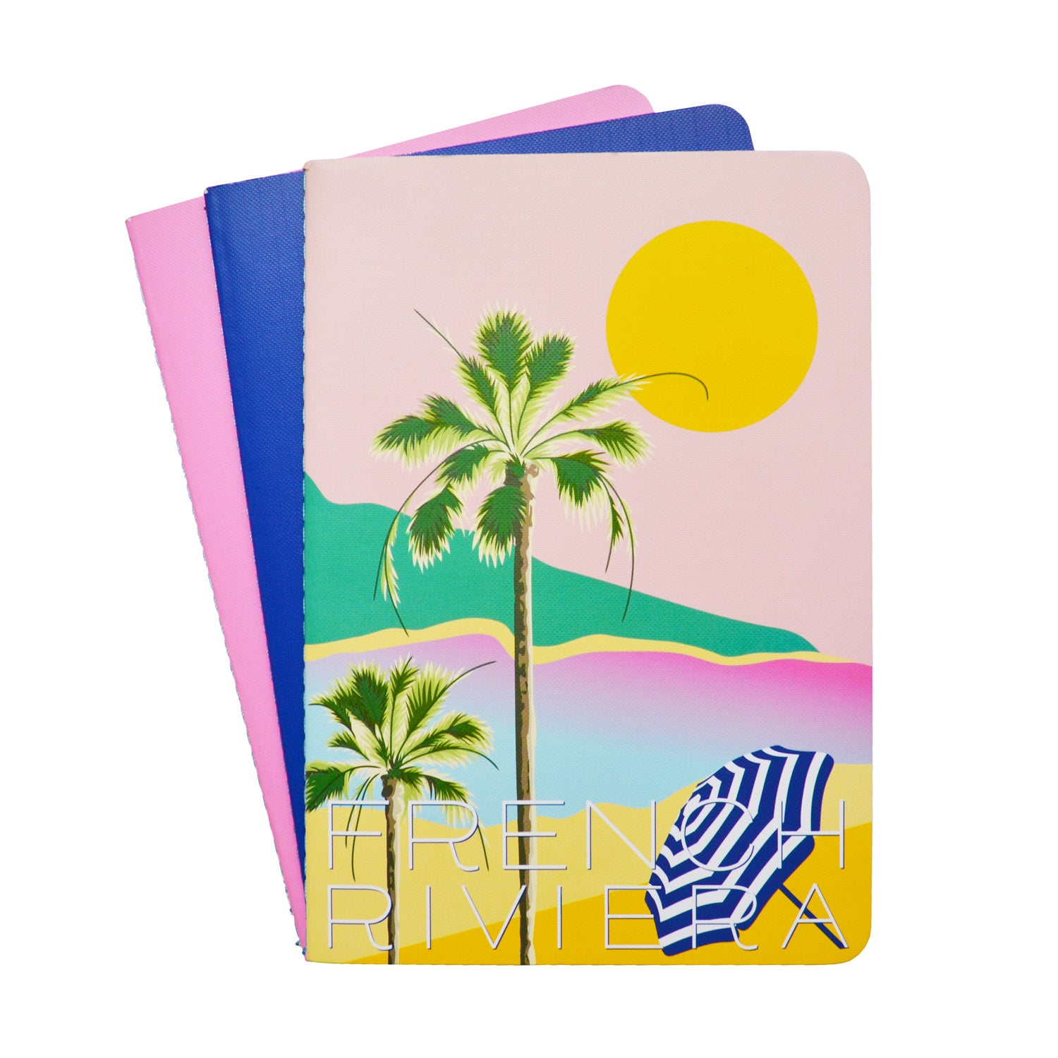 French Riviera Set of 3 A5 Notebooks - MissieMay