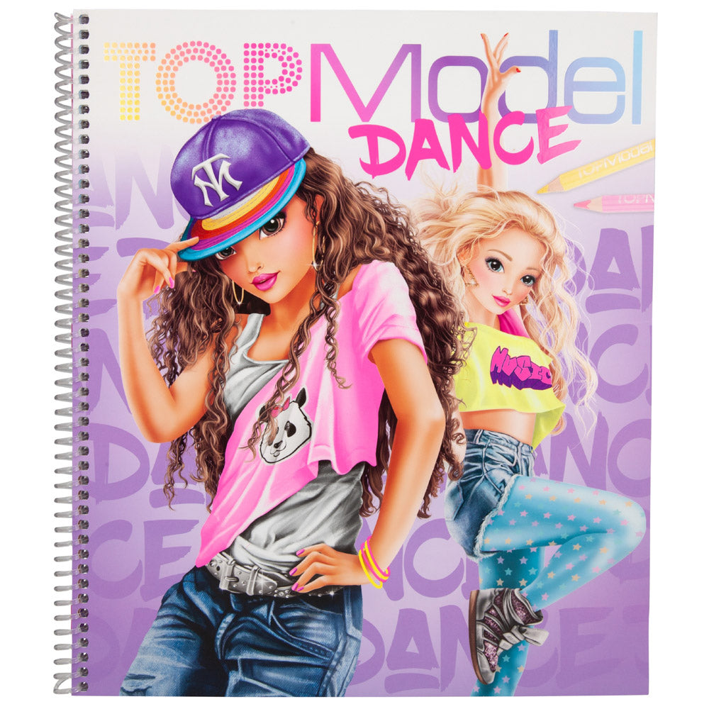 TopModel Dance Colouring Book - MissieMay