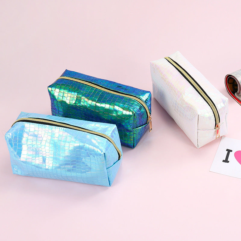 Iridescent Snake effect Pencil / Cosmetic Case - MissieMay