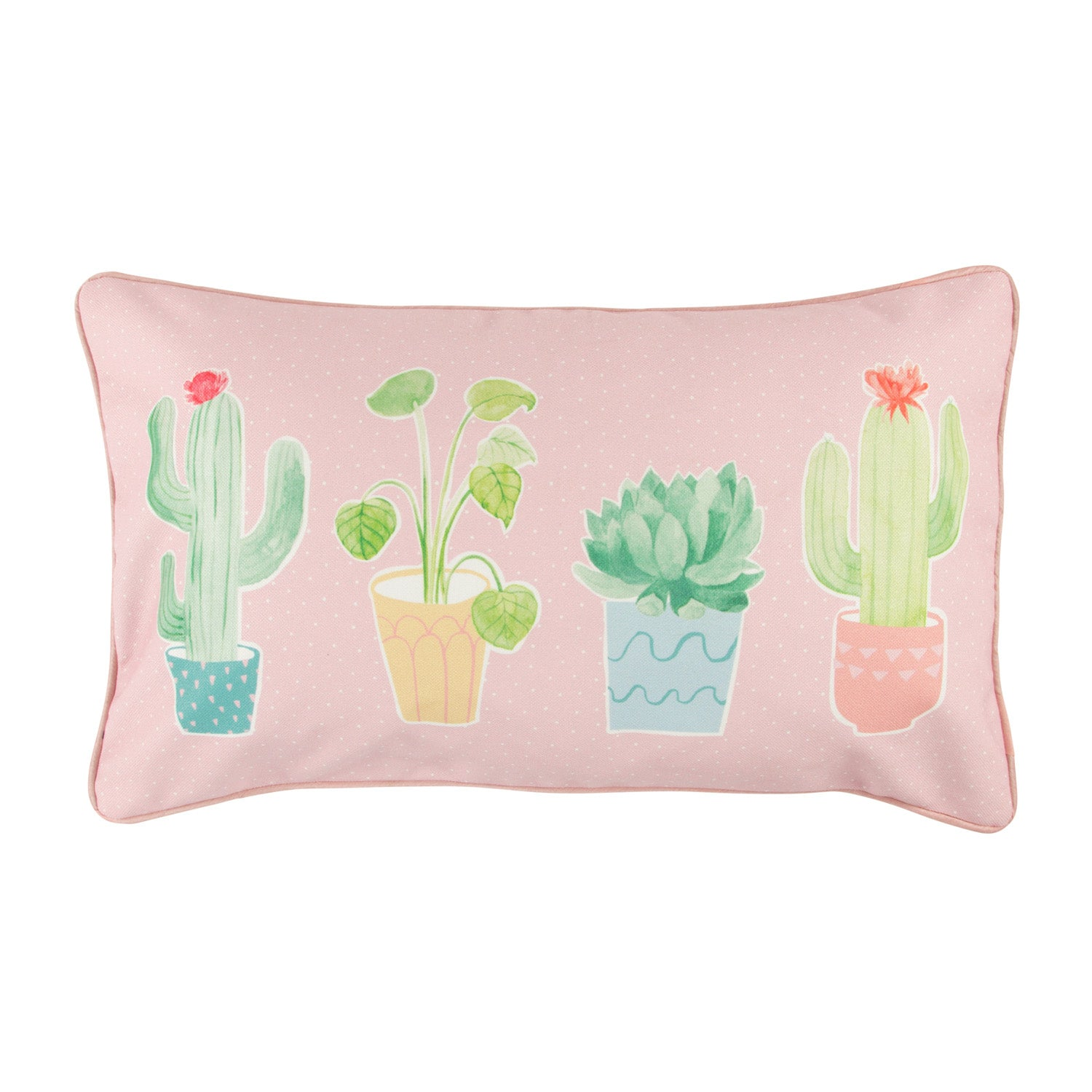 Pastel Cactus Cushion with Inner - MissieMay
