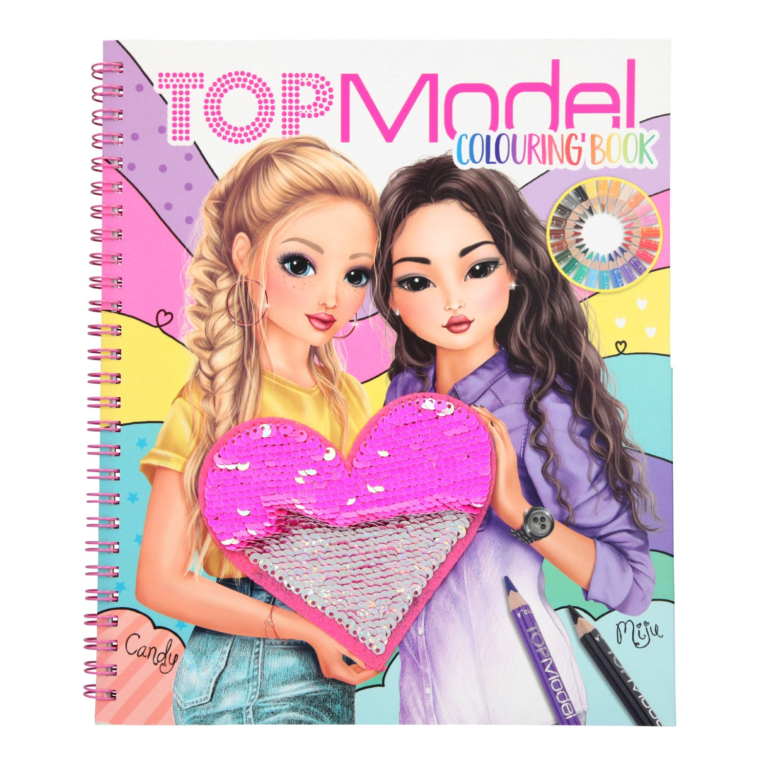 TopModel Reversible Sequins Colouring Book - MissieMay