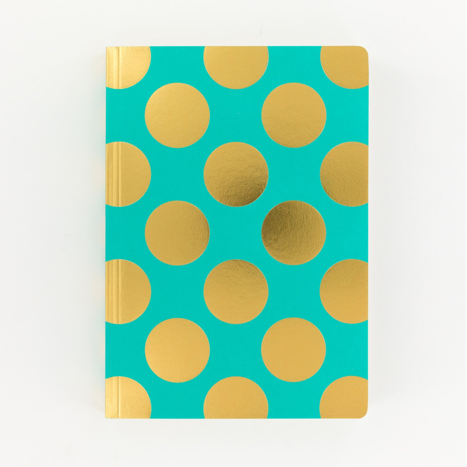Shimmer Teal A5 Notebook Large Polka - MissieMay