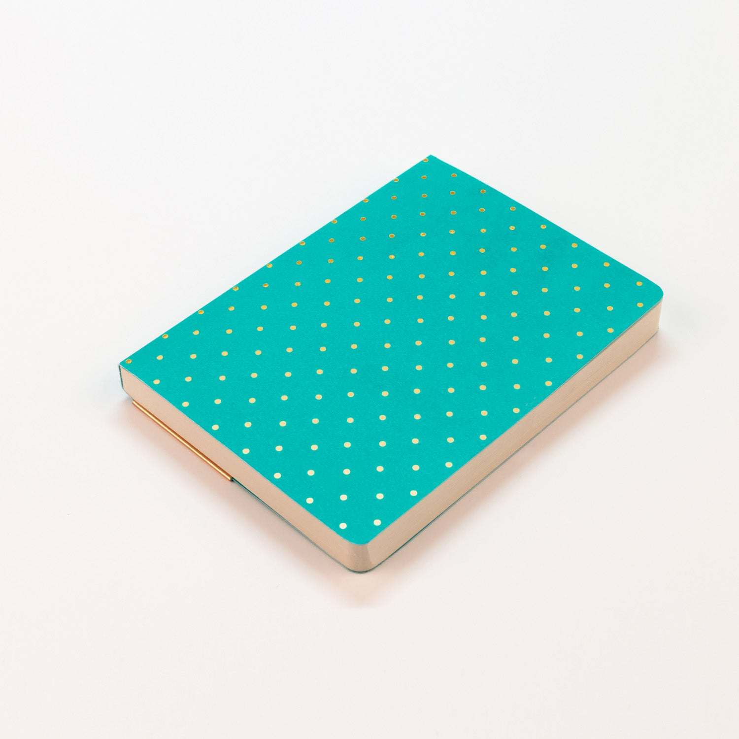 Shimmer Teal A6 Notebook - MissieMay