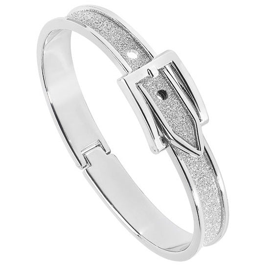 Belle & Beau Silver Buckle Bangle - MissieMay