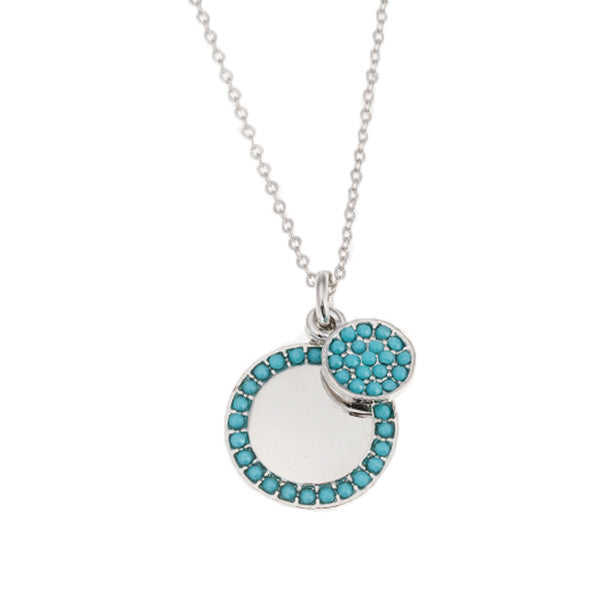 Belle & Beau Riviera Turquoise Disc Necklace - MissieMay