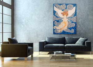 Victorious Angel  Painting | Giclee Art Paper Print | Teresa Andre Art